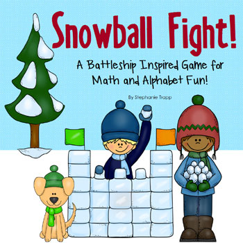 Winter Math and Alphabet Activity