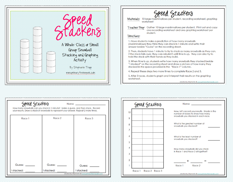 Winter Math Activity- Speed Stackers