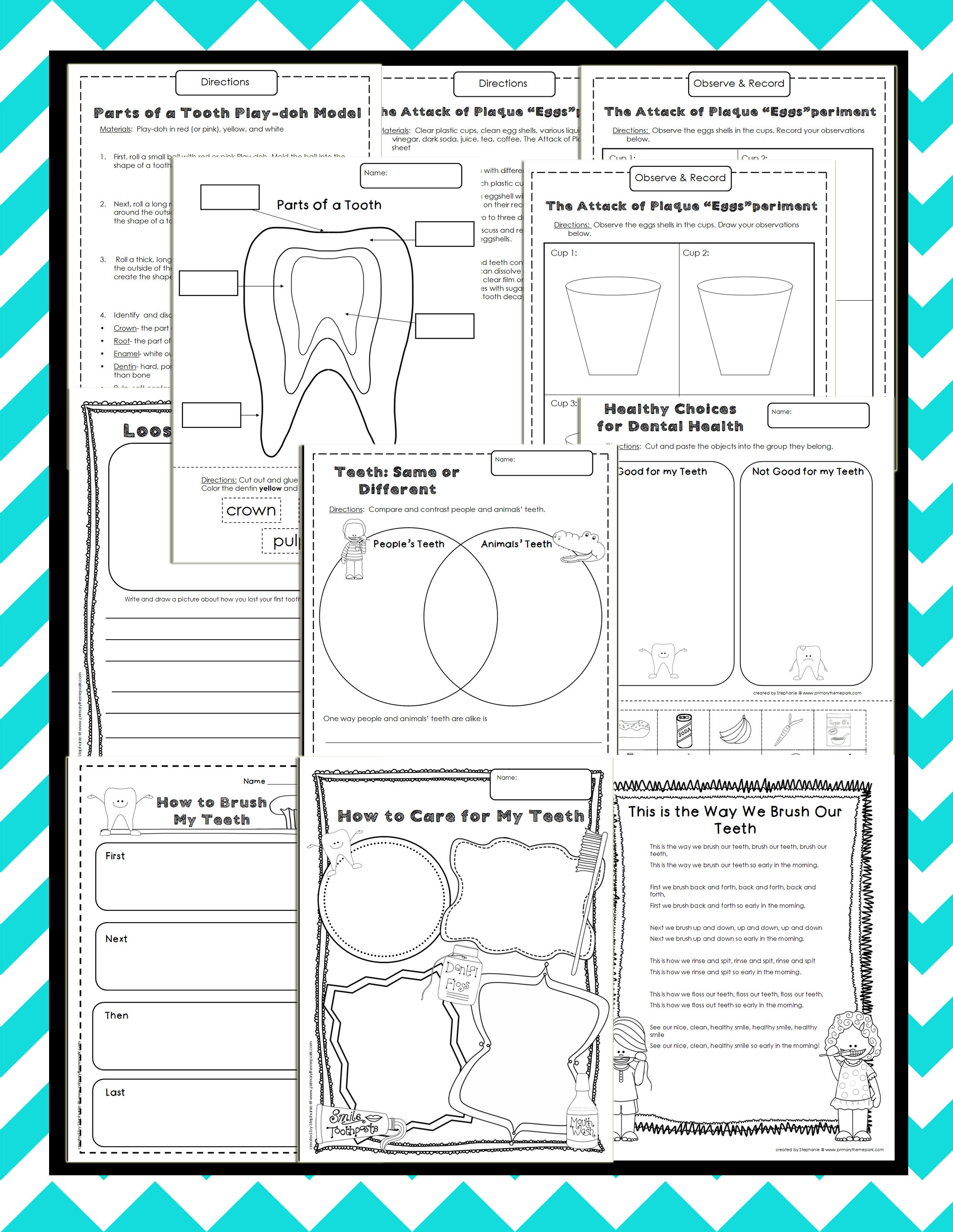 Dental Health Theme Unit for Kindergarten and First Grade