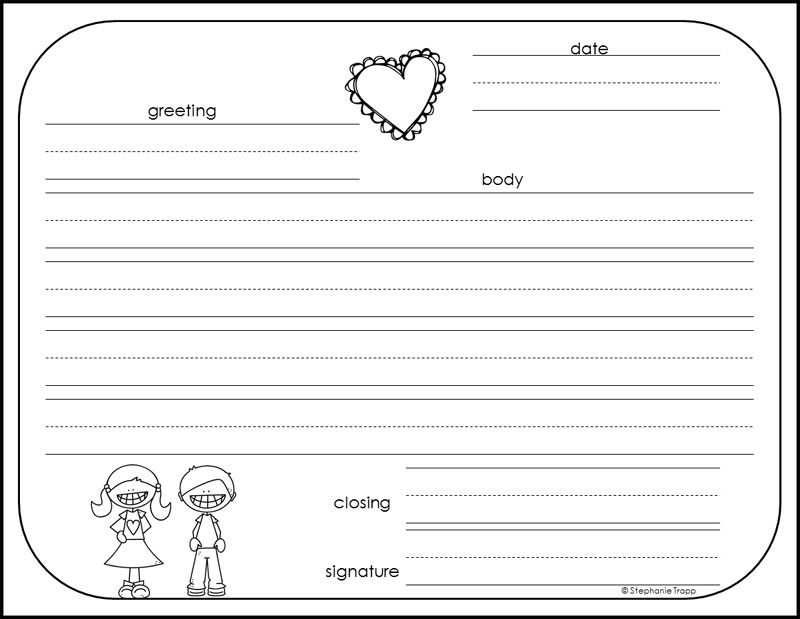 image about Letter Writing Template for Kids called How in direction of Publish a Pleasant Letter Free of charge Printables - Main