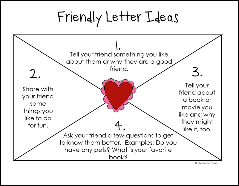 How To Write A Friendly Letter Free Printables Persuasive Letter