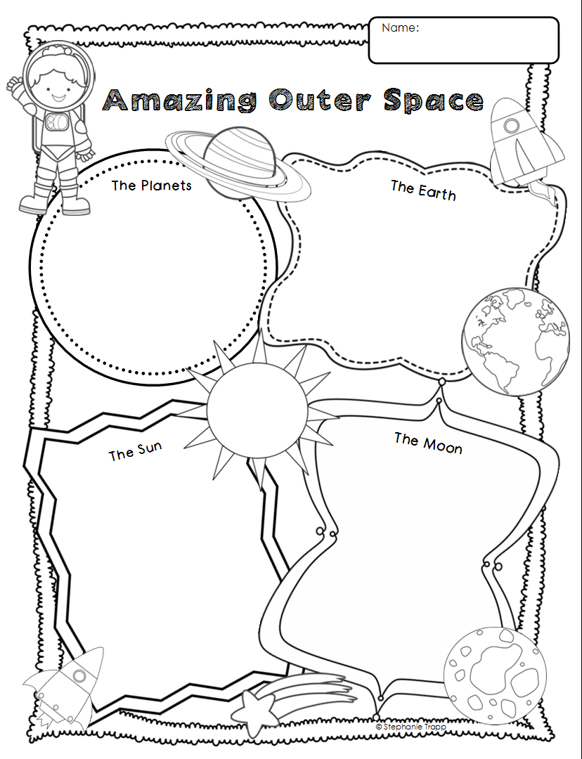 Space Themed Writing Ideas for Kindergarten - Primary Theme Park