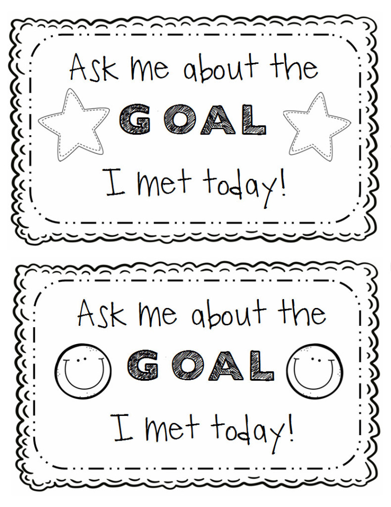 student academic goal planning sheets and printables