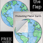 Earth Lift-the-Flap Printable Template FREEBIE