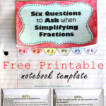 Simplifying Fractions Worksheet and Template