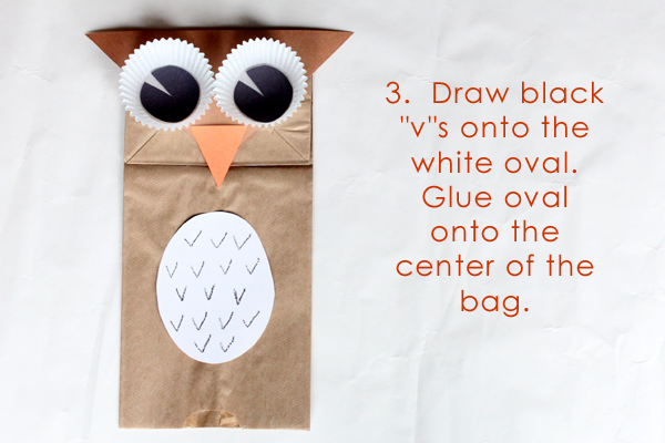 Owl Puppet Template Printable with Instructions