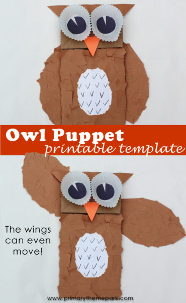 Kids will love making this paper bag owl puppet with movable wings.