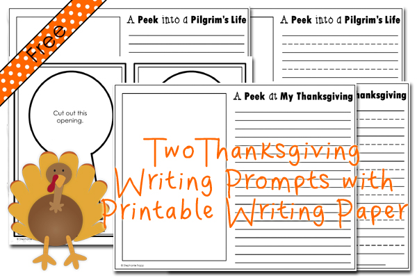 thanksgiving writing prompts primary theme park thanksgiving writing prompts a peek into a pilgrim s life and a peek