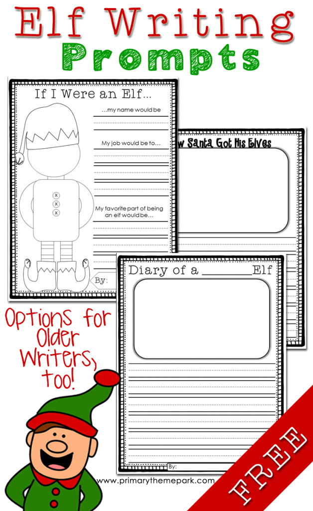 Elf Writing Prompts Free Printables