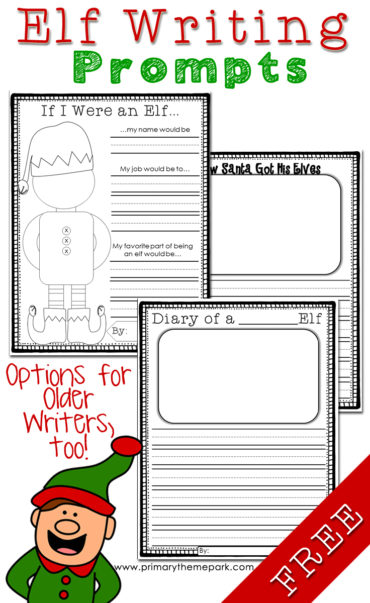 Free Printable Elf Writing Prompts for Kids