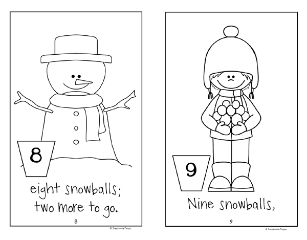 Free Winter Emergent Reader for Kindergarten