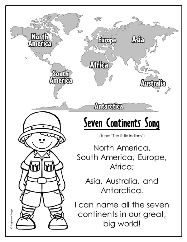 picture regarding Printable Seven Continents named 7 Continents Music - Principal Topic Park
