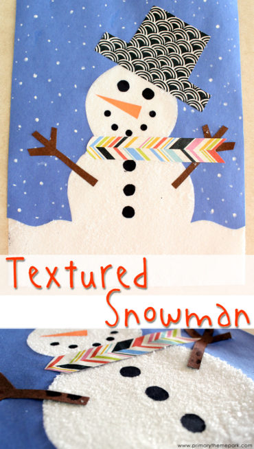 Adorable textured snowman craft for kids