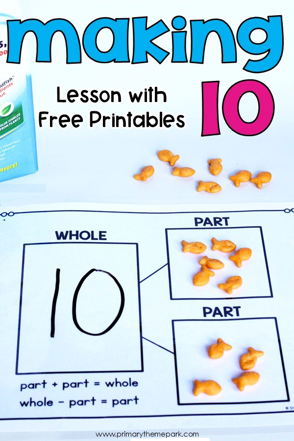 Making Ten Activities For Kids Primary Theme Park
