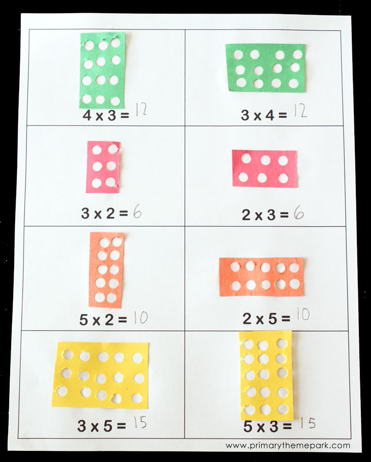 Multiplication Arrays - Primary Theme Park