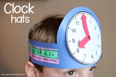 Free Printable Clock Hats- A Fun Activity for Learning to Tell Time