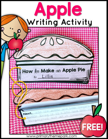 How to Make an Apple Pie Writing Activity with Free Prinable