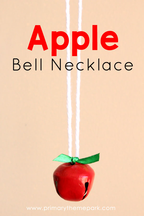 Apple Crafts for Kids: Apple Bell Neckalce