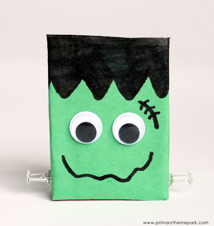 Halloween Crafts for Kids: Frankenstein Raisin Boxes