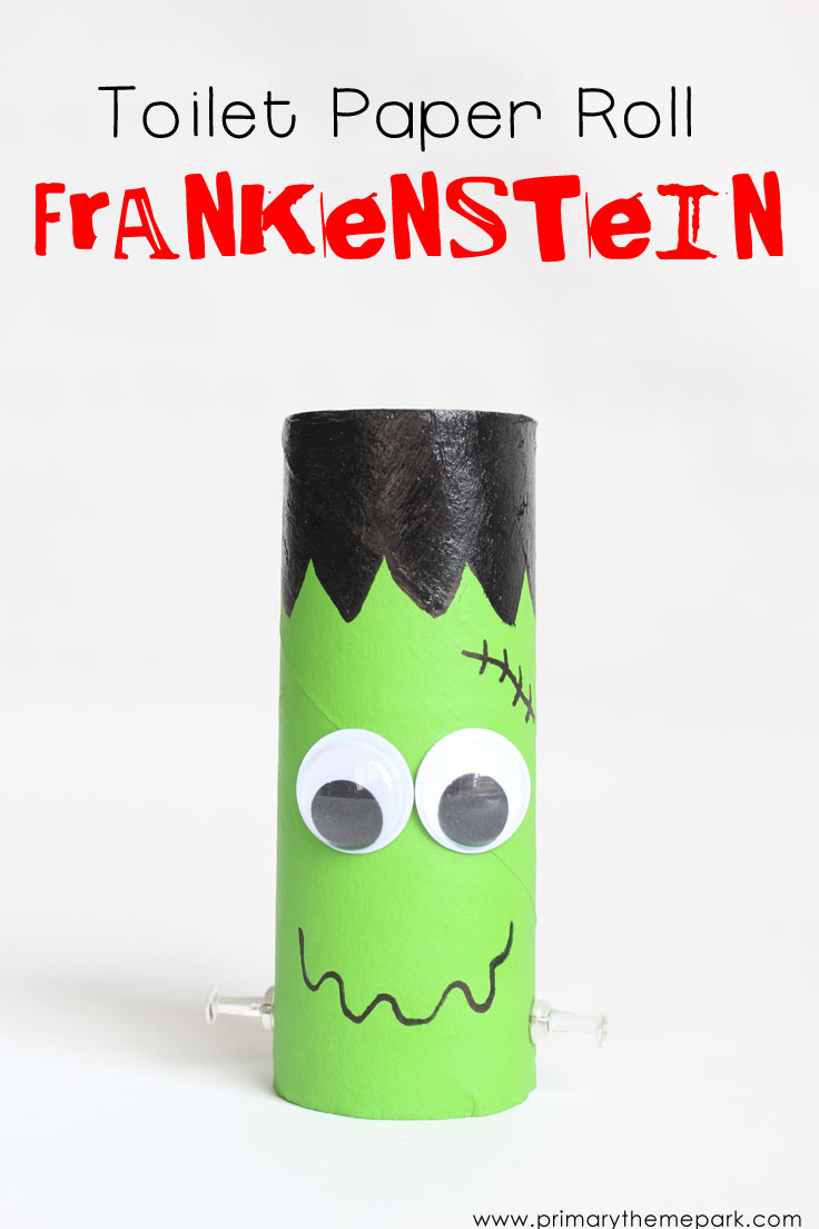 Halloween Crafts for Kids: Toilet Paper Roll Frankenstein