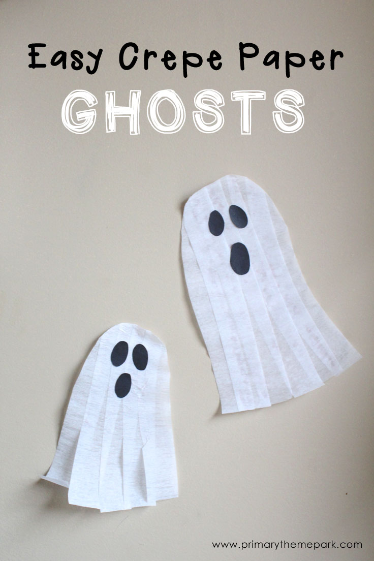 Halloween Crafts for Kids: Crepe Paper Ghosts