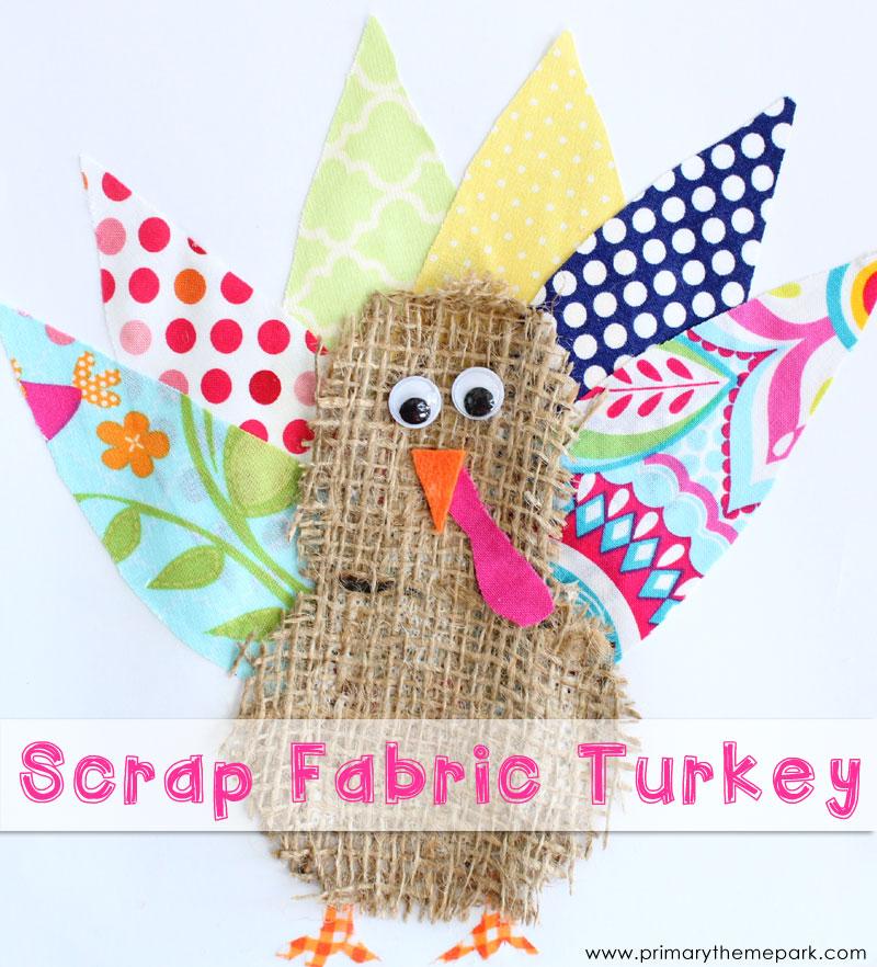 Scrap Fabric Turkey Craft