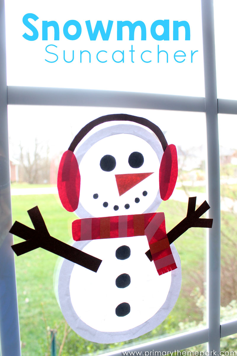 Suncatcher Snowman Craft for Kids