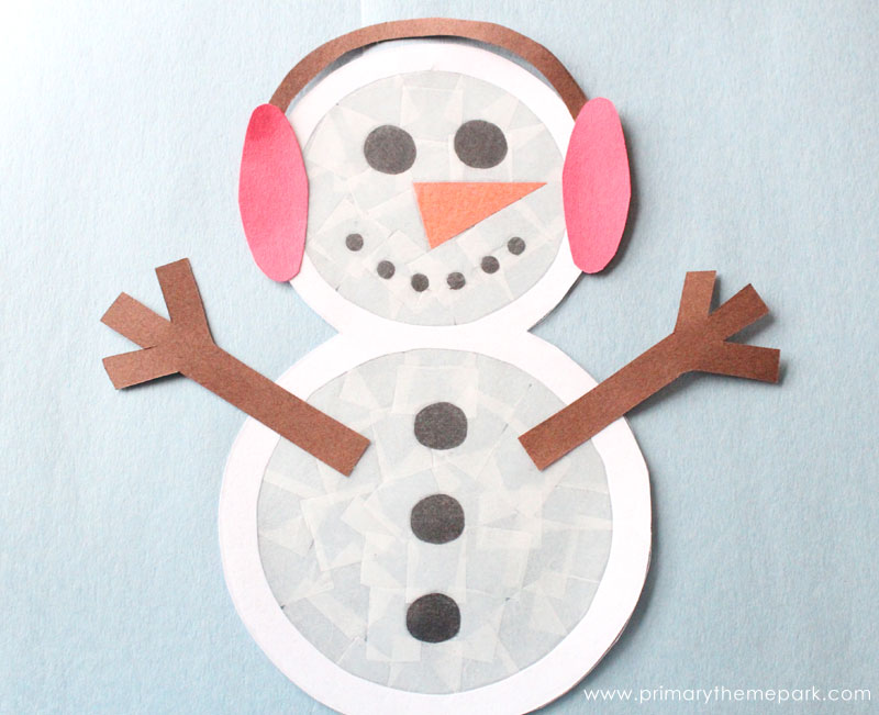 Suncatcher Snowman Craft  Primary Theme Park