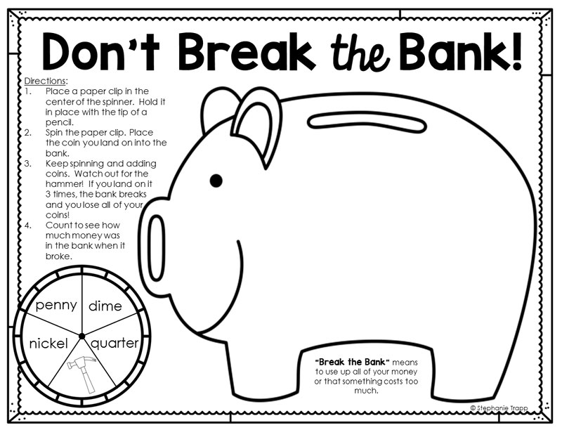 bank themed coloring pages - photo#11