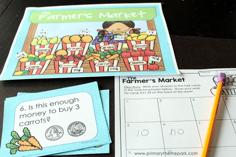 Money Task Cards: Money Activities for Second Grade