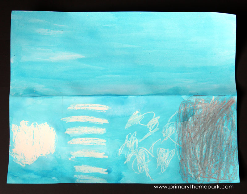 Cloud Activities for Kids :: Crayon and Watercolor Clouds
