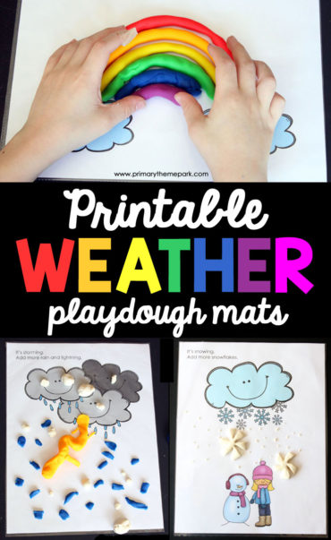 These free printable weather playdough mats are a fun complement to a weather unit study!