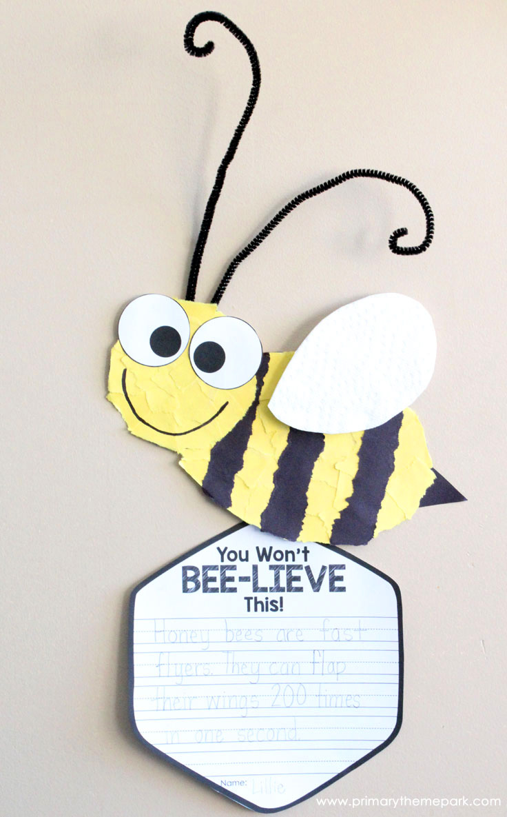 Bee Craft Template Primary Theme Park
