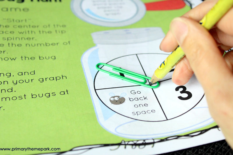 Bug Hunt Graphing Game Printable- A fun activity for an insect unit!
