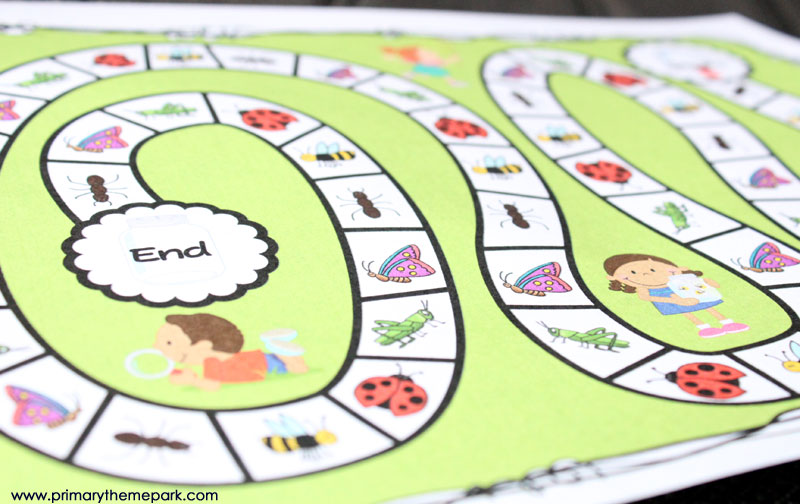 Bug Hunt Graphing Game Free Printable- A fun activity for an insect unit!