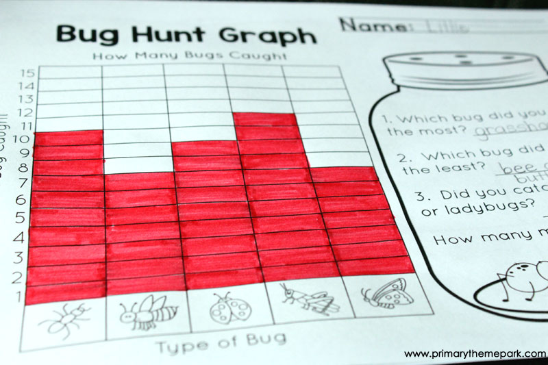 Graphing Game Printable - Primary Theme Park