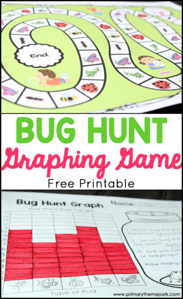 Bug Hunt Graphing Game Printable- A fun graphing activity for an insect unit!