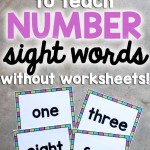 Number Sight Words