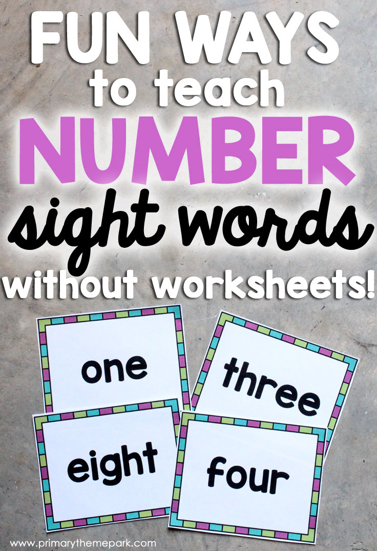 Fun Ways to Teach Number Sight Words Without Worksheets