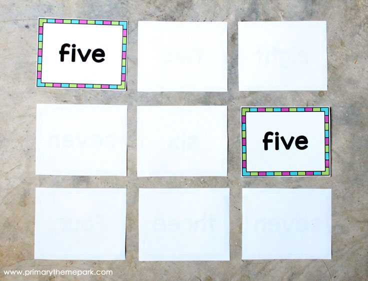 Number Names Worksheets fun sight word worksheets : Number Sight Words - Primary Theme Park