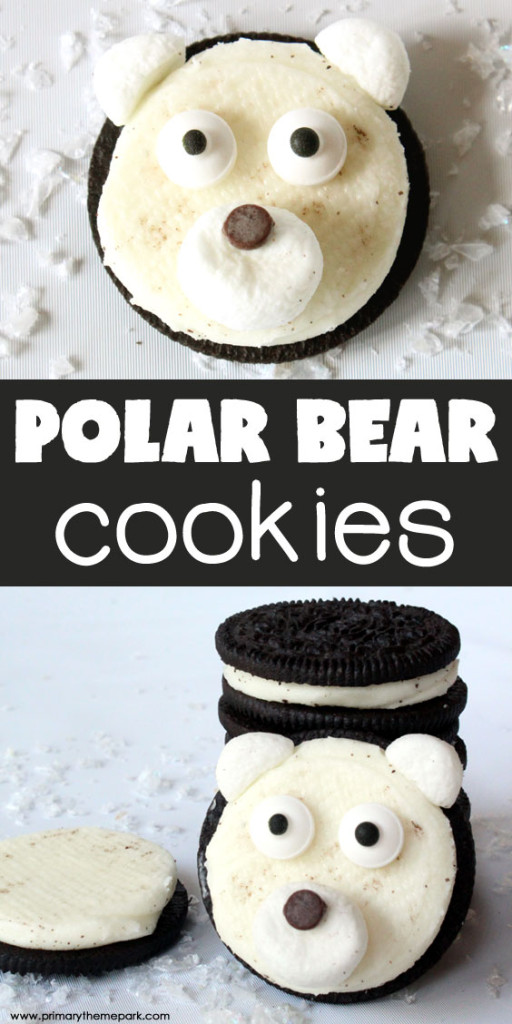 Kids will love making these easy polar bear cookies during a polar bear or arctic animal study this winter!