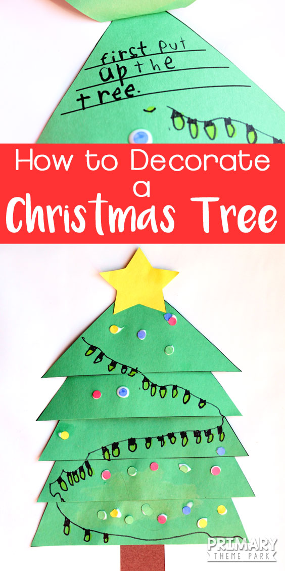 free christmas writing activity students write the steps to decorating a christmas tree under