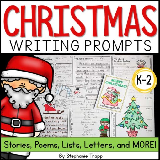 Christmas Writing Prompts for Kids #christmaswriting #christmasactivityforkids #christmaslearning
