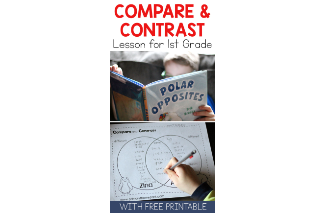Compare and Contrast Activities | Compare and Contrast First Grade