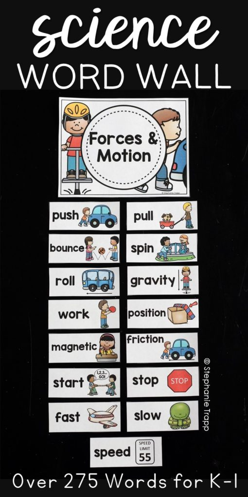 science word wall kindergarten | science word wall first grade
