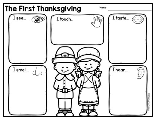 First Thanksgiving Writing Activities #firstthanksgiving