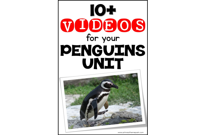 Over 10 penguin videos for kids that are a perfect complement to a penguin unit study for kindergarten and first grade. #penguins #penguinkids #scienceforkids