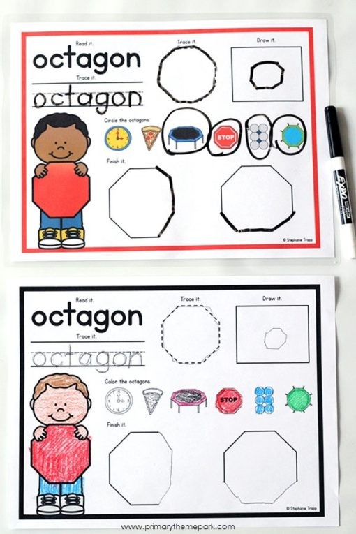2D Shapes Activities for Kindergarten