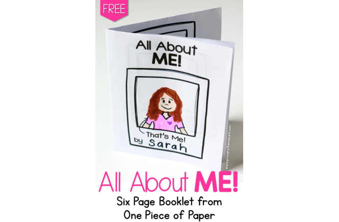photograph regarding All About Me Printable Book named All Relating to Me No cost Printable - Standard Concept Park