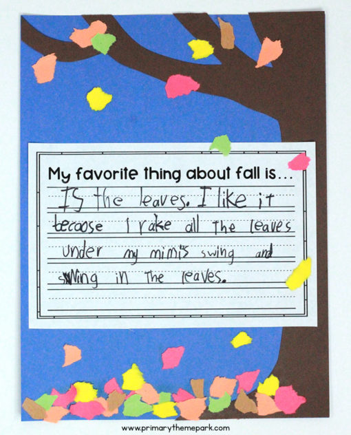 Fall Writing Craftivity for Kindergarten and First Grade